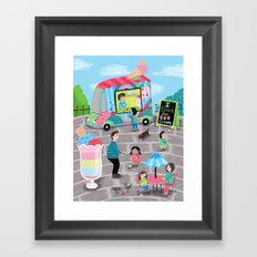 I Scream for Ice Cream Framed Art Print
