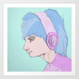 """Static Beat""  Art Print"