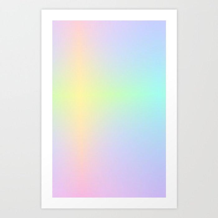 LUSH / Plain Soft Mood Color Blends / iPhone Case Art Print