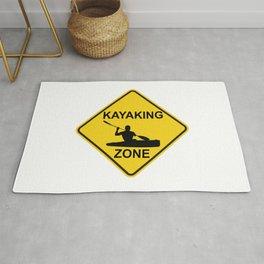 Kayaking Zone Road Sign Rug