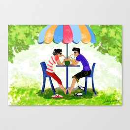 Summer Lovers Canvas Print