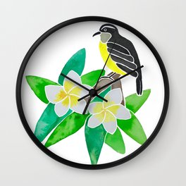 Bananaquit Wall Clock
