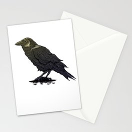 Crow Contemplation Stationery Cards