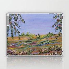 peach tree valley 2, modern impressionism art, landscape art Laptop & iPad Skin