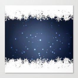 Adorable snowy night Canvas Print