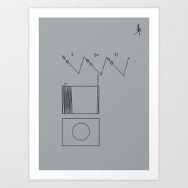 Voyager Golden Record Fig. 2 (Gray) Art Print