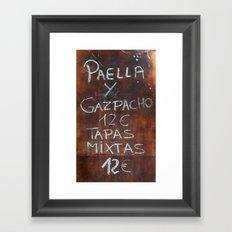 TAPAS Framed Art Print
