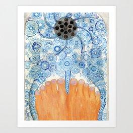 Shower Feet Art Print