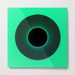 Apple Vortex Green Metal Print