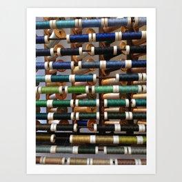 Thread samples in Paris Art Print