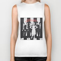 blondie Biker Tanks featuring Blondie Stencil by FutureAstro