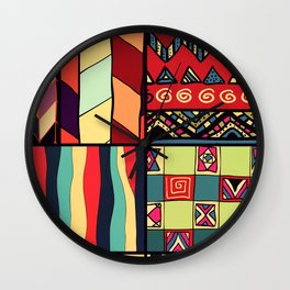 African Style No18 Wall Clock