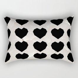 Black Hearts to Crumble Rectangular Pillow