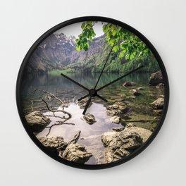 Obersee Lake summer scene Wall Clock