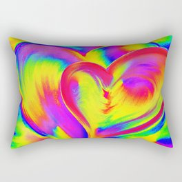 Double Heart beat Rectangular Pillow