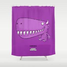 Growlasaurus Shower Curtain