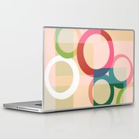 circles Laptop & iPad Skins featuring circles by clemm