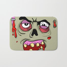 Cartoon Zombie face Bath Mat