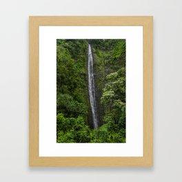 Stunning Plunging Waterfall Framed Art Print