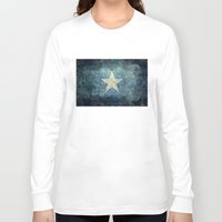 islam Long Sleeve T-shirts featuring Somalian national flag - Vintage version by Bruce Stanfield