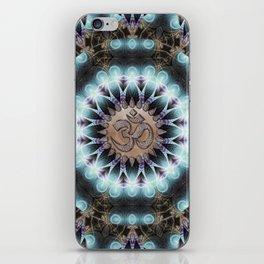 Om Shanti Fractal Geometry [ earthy aqua remix ] iPhone Skin