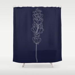 floweret navy Shower Curtain