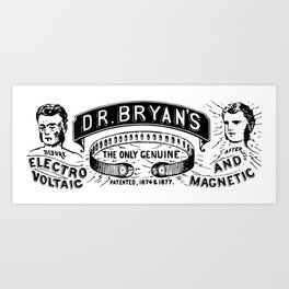 Dr. Bryan's Perfected Electro-Voltjiic and Magnetic Appliances 1861 Art Print