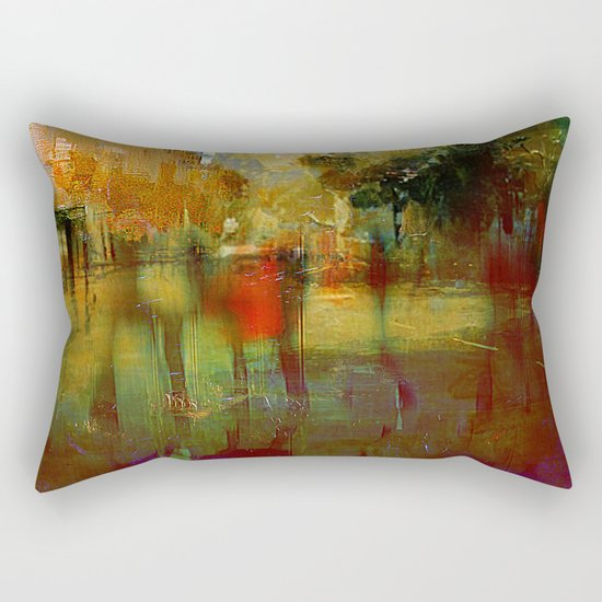 Melancholic walk Rectangular Pillow