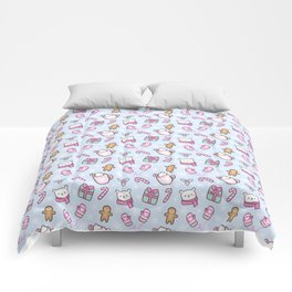 Cute Christmas // Blue Comforters