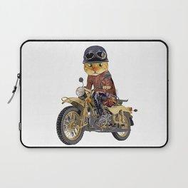 Cat riding motorcycle Laptop Sleeve
