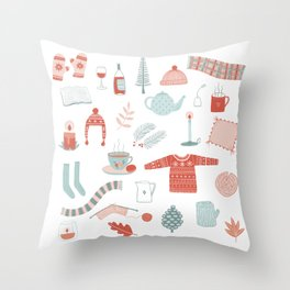 Hygge Cosy Things Throw Pillow