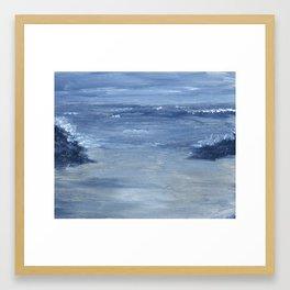 Monochromatic Seascape 1 Framed Art Print