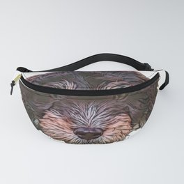 Dog Aussie Pom Crossbreed fair ranking entwined consumed Fanny Pack