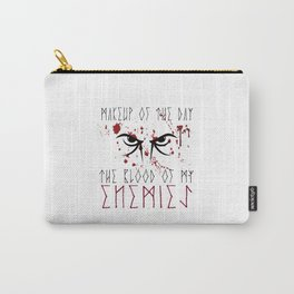 Makeup of the day: The blood of my enemies | Viking design Carry-All Pouch
