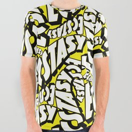Feel - Bee - XTC Pattern All Over Graphic Tee