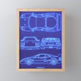 F40 Framed Mini Art Print