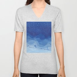 Stars factory, blue Unisex V-Neck