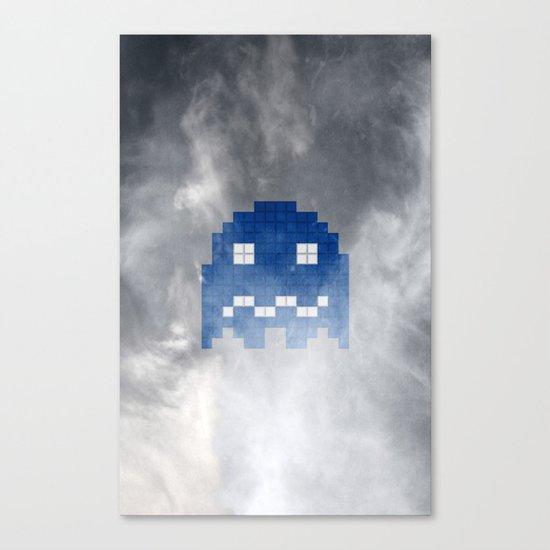 Pac-Man Blue Ghost Canvas Print