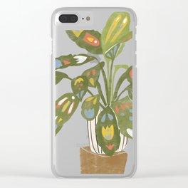 Scandinavian Plant Clear iPhone Case