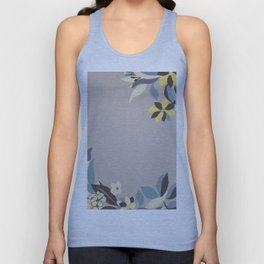 Lavender Border Flowers Unisex Tank Top