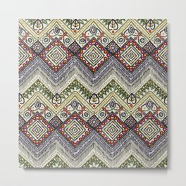 beaded chevron pearl Metal Print