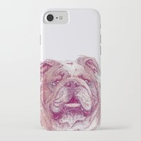 bulldog iPhone & iPod Cases featuring Bulldog by Ahmad Mujib