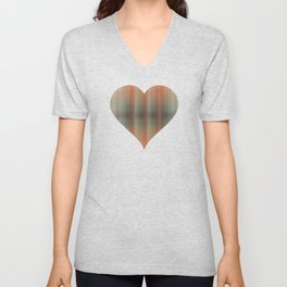 Abstract pattern pink and grey Unisex V-Neck