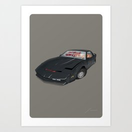 80´s tv and films cars (knight rider) Art Print