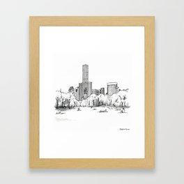 Sheep Meadow, Summer Framed Art Print