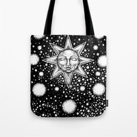 tarot Tote Bags featuring Star Tarot by Corinne Elyse