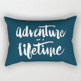 Adventure of a Lifetime - Navy Rectangular Pillow