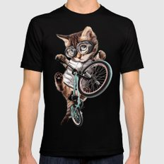 BMX CAT Mens Fitted Tee Black MEDIUM