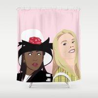 clueless Shower Curtains featuring clueless by Britt Whitaker Design
