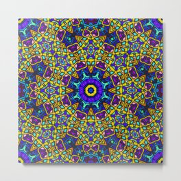 Persian kaleidoscopic Mosaic G522 Metal Print
